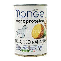 MONGE Monoproteico Pate dengan Ayam, Nasi dan Nanas