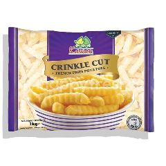 Kawan Frozen Crinkle Cut French Fries Potatoes 1KG
