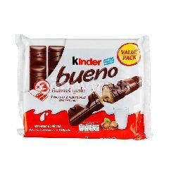คินเดอร์ บูเอโน เวเฟอร์เคลือบช็อกโกแลตนมสอดไส้ครีมและเฮเซลนัท 43 กรัม (แพ็ค 3)