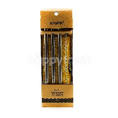 Hooray! 12mm Eco Stainless Steel Straw (4 Pieces)