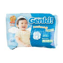 Nepia Genki Premium Popok Celana Bayi Lembut Ukuran L