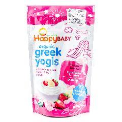 HAPPY BABY Organic Greek Yogis - Strawberry Banana