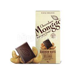 Monggo Cokelat Hitam 58/% dengan Kacang Mete