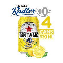 Bintang Radler Minuman Malt Kadar Alkohol 0.0% Rasa Lemon Isi 4 Kaleng