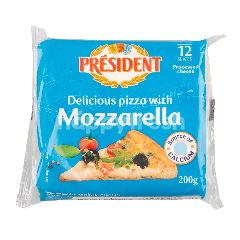 President Special Pizza Mozzarella Cheese Slices