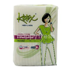 Kotex Fresh Liners Healthy V-Care Longer & Wder Unscented