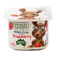 Farmers Union Greek Style Strawberry Flavoured Yogurt