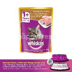 Whiskas Pouch Cat Wet Food Adult Chicken & Tuna 85G Cat Food