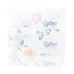 เซลล็อกซ์ พิวริฟาย กระดาษเช็ดหน้าลายดอกไม้ไทย 150 แผ่น (3 กล่อง)