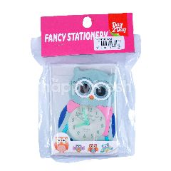 Day 2 Day Fancy Stationery Owl Clock