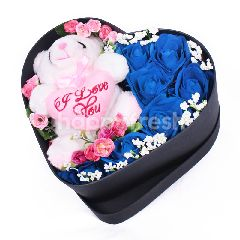Citra Florist Artificial Flowerbox Sleeping Love Black