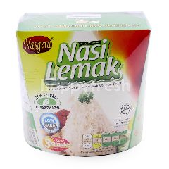 Nasgera Instant Nasi Lemak With Coconut Powder And Anchovies Sambal Paste