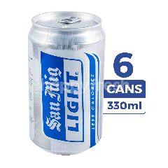 San Miguel Light Bir Less Kalori (Kaleng) 6-Pack