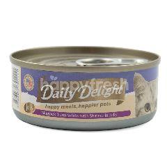 Daily Delight Makanan Kucing Jeli Ikan Cakalang dan Shirasu