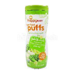 Organics Happy Baby Superfood Puffs Veggie, Fruit & Grain Puffs (Apple & Broccoli)