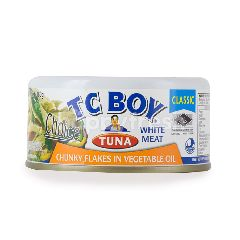 Tc Boy Tuna White Meat Chunky Flakes In Vegetable Oil