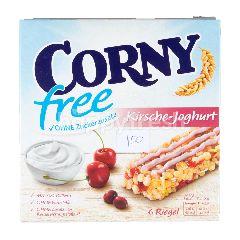 คอร์นีย์ ธัญพืชอบกรอบชนิดแท่งผสมเนื้อเชอร์รี่อบแห้งเคลือบครีมโยเกิร์ต