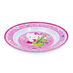 "Vanda  Piring Makan Melamin Hello Kitty 9"""