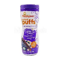 Organics Happy Baby Superfood Puffs Veggie, Fruit & Grain Puffs (Purple Carrot & Blueberry)