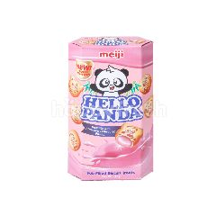 Meiji Hello Panda Strawberry Biscuits