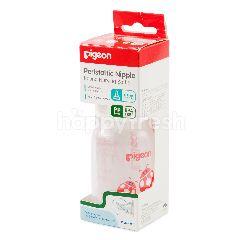 Pigeon Botol Bundar dengan Dot Peristaltik Ukuran Lubang S Leher Botol Bentuk Kumbang