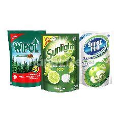 Unilever Sunlight, Super Pell, Wipol Paket Rumah Bersih 4