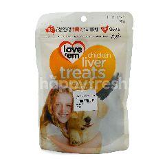 Love'em Chicken Liver Dog Snack
