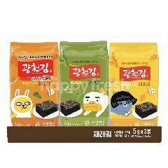 Kwangcheonkim Kakao Jaerea Seaweed (3 x 5g)