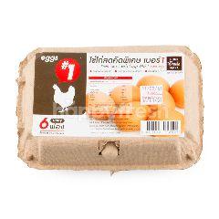 โฮม เฟรช มาร์ท ไข่ไก่สด คัดพิเศษ เบอร์ 1 (6 ฟอง)