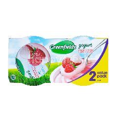 Greenfields Yogurt Rasa Raspberi dan Leci