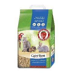 แคท เบส ทรายแมวเปลือกไม้สนแบบแท่ง 10 ลิตร กลิ่นสตรอเบอร์รี่