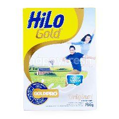 HiLo Gold Susu Bubuk Tawar Tinggi Kalsium Kurang Lemak 51 Tahun