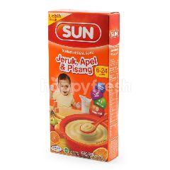 Sun Bubur Susu Sereal dengan Jeruk Pisang dan Apel