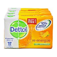 Dettol Re-Energizec Anti- Bacterial Soap (4 Pieces)