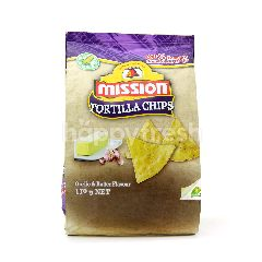 Mission Garlic And Butter Flavor Tortilla Chips