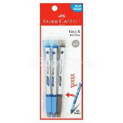 Faber Castle Grip X 0.5 Ball Pen (3 Pieces)