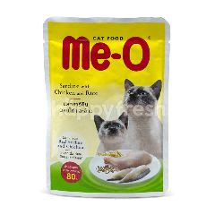 Me-o Makanan Kucing Sarden Ayam dan Nasi