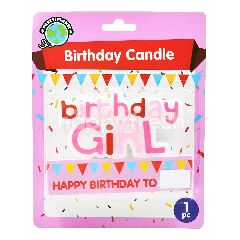 Party Planet Birthday-Girl Candle