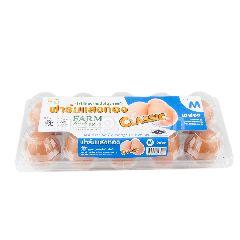 ฟาร์มแสงทอง ไข่ไก่สด Classic ไซส์ M (10 ฟอง)