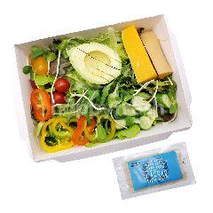 Sweet & Green Salad Box Mixed Vegetable And Half Avocado With Julius Caesar Dressing