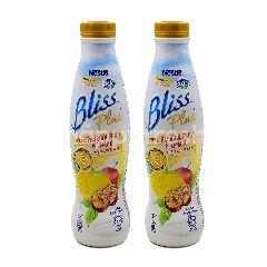 Lactel Bliss Plus Low Fat Yogurt Drink Apple, Passion Fruit & Lemon 700ml Twinpack
