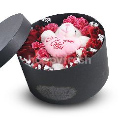 Citra Florist Artificial Flowerbox Sleeping Round Black