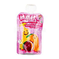 แอปเปิ้ลมังกี้ แอปเปิ้ล มังกี้ ซอสกล้วยบดผสมมะม่วงและเสาวรส