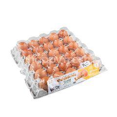 ฟาร์มแสงทอง ไข่ไก่สด ไซส์ L (30 ฟอง)