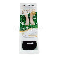เฮลโลฮีล แผ่นรองพื้นในรองเท้า รุ่นดีโอไรซิ่ง อินโซลส์ สีดำ