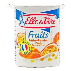 Elle & Vire Yogurt Rasa Buah Persik dan Markisa