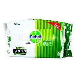 เดทตอล เดทตอล ผ้าเปียกทำความสะอาด สูตรแอนตี้แบคทีเรีย 99.9% (50 แผ่น)