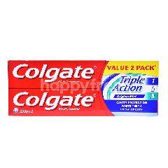 Colgate Triple Action Original Mint Toothpaste (2 Pieces)