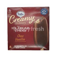Bulla Chocolate Vanilla Flavour Creamy Classics Ice Cream (6 Packs)
