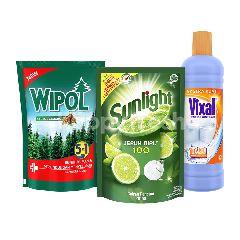 Unilever Sunlight, Vixal, Wipol Paket Rumah Bersih